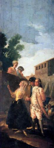 Francisco J. Goya y Lucientes - Soldaten und die Lady