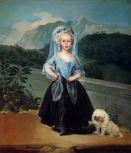 Francisco J. Goya y Lucientes - Maria Teresa de Borbon y Vallabriga