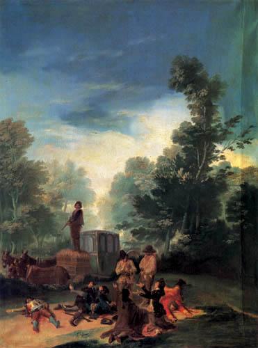 Francisco J. Goya y Lucientes - Räuber überfallen eine Kutsche