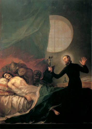 Francisco J. Goya y Lucientes - Der hl. Francisco Borja am Totenbett