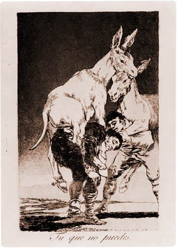 Francisco J. Goya y Lucientes - You who cannot