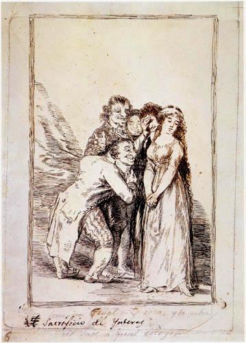 Francisco J. Goya y Lucientes - Sacrificio de Ynteres