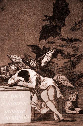 Francisco J. Goya y Lucientes - Sleep of reason produces monsters