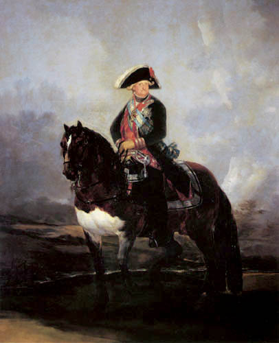 Francisco J. Goya y Lucientes - Equestrian portrait of Carlos IV.