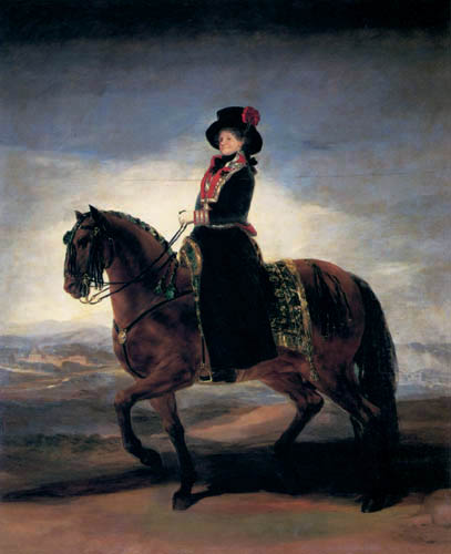Francisco J. Goya y Lucientes - Maria Luisa zu Pferd