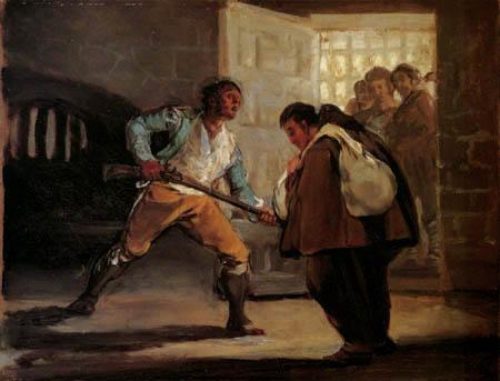 Francisco J. Goya y Lucientes - El Maragato amenaza a Pedro de Zaldivia