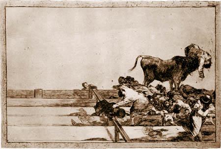Francisco J. Goya y Lucientes - The killed Torrero