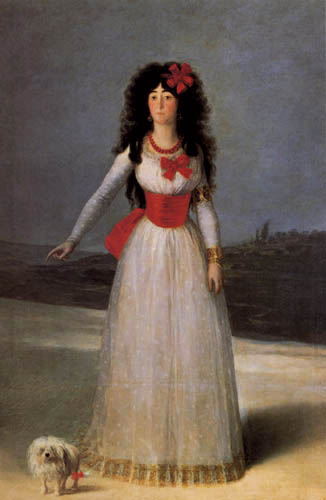 Francisco J. Goya y Lucientes - The duchess of Alba
