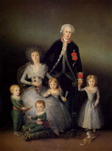 Francisco J. Goya y Lucientes - Der Herzog von Osuna mit Familie