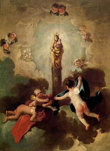 Francisco J. Goya y Lucientes - La Virgen