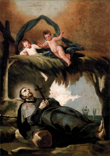 Francisco J. Goya y Lucientes - The death of a Saint