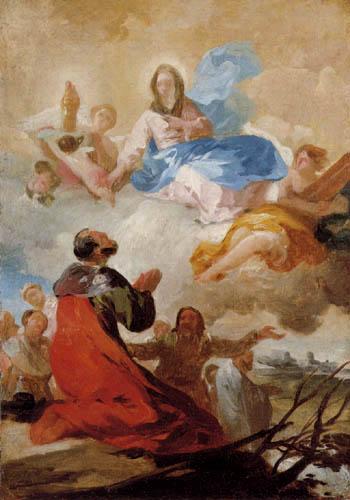 Francisco J. Goya y Lucientes - Die Erscheinung der Jungfrau