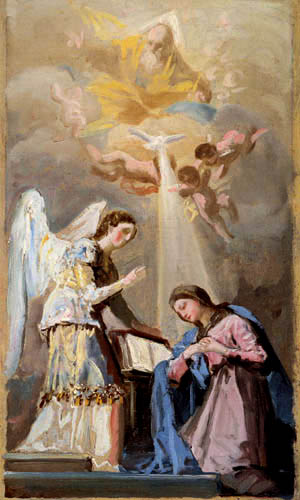 Francisco J. Goya y Lucientes - Annunciation