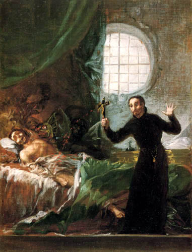 Francisco J. Goya y Lucientes - St Francis Borgia attending a dying