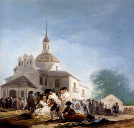Francisco J. Goya y Lucientes - Church at San Isidro