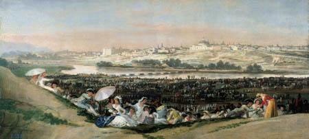Francisco J. Goya y Lucientes - Blick auf San Isidro