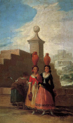 Francisco J. Goya y Lucientes - Girl with water jugs