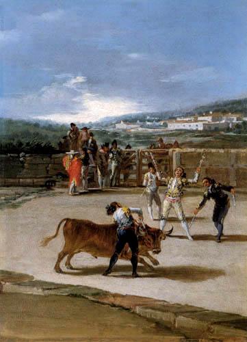 Francisco J. Goya y Lucientes - Torreros auf dem Land