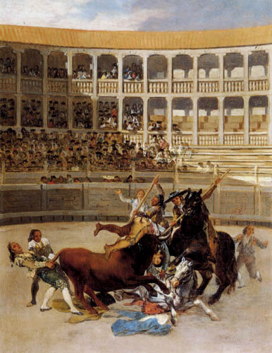 Francisco J. Goya y Lucientes - The death of a bull fighter