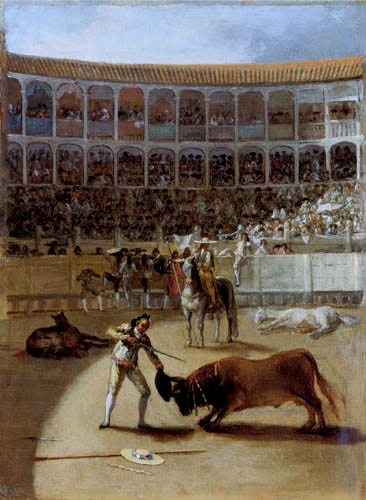 Francisco J. Goya y Lucientes - The bull fighter kills the bull