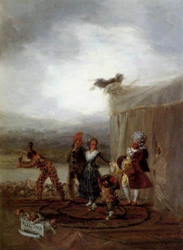 Francisco J. Goya y Lucientes - Das Straßentheater, Alegoria Menandrea