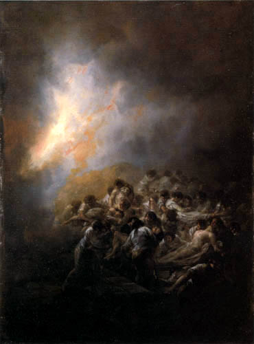 Francisco J. Goya y Lucientes - Feuer in der Nacht