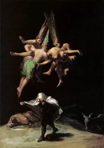 Francisco J. Goya y Lucientes - Flying witches