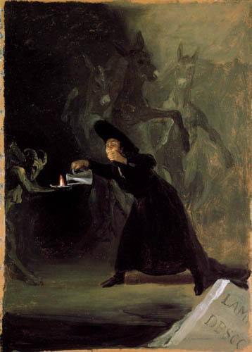 Francisco J. Goya y Lucientes - Szene aus: 'El Hechizado por Fuerza'