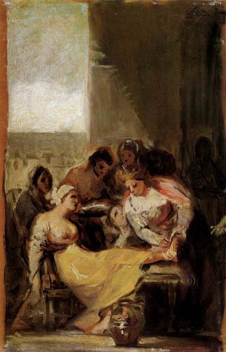 Francisco J. Goya y Lucientes - St. Elisabeth Tending a Sick Women
