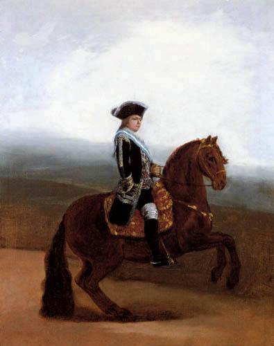 Francisco J. Goya y Lucientes - Reiterporträt Don Manuel Godoy