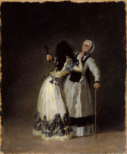 Francisco J. Goya y Lucientes - The duchess of Alba and 'La Beata'