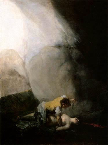 Francisco J. Goya y Lucientes - El bandido mata una mujer