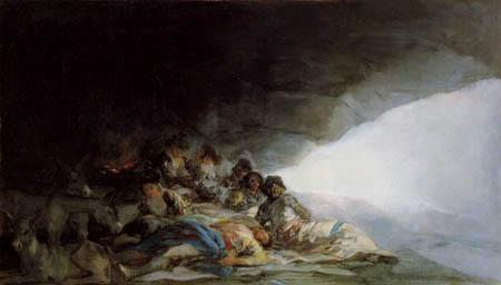 Francisco J. Goya y Lucientes - Gitanos reposo en una cueva