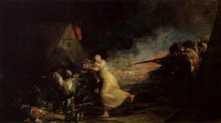 Francisco J. Goya y Lucientes - Tiroteo en un campamento militar