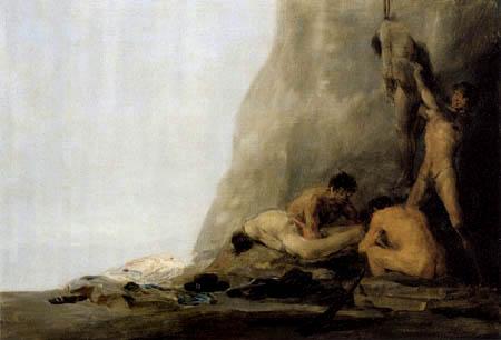 Francisco J. Goya y Lucientes - Cannibals prepare their victim