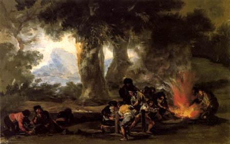 Francisco J. Goya y Lucientes - Munitionsherstellung in der Sierra de Tardienta