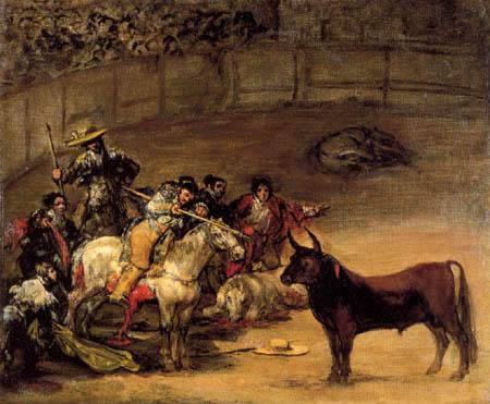 Francisco J. Goya y Lucientes - Corrida de toros 'Suerte de vara'