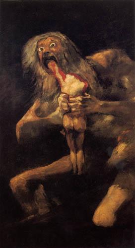 Francisco J. Goya y Lucientes - Saturn devouring his Son