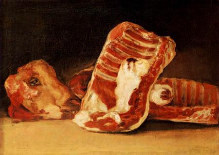 Francisco J. Goya y Lucientes - Stillleben mit Hammelkopf