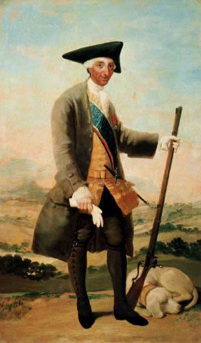 Francisco J. Goya y Lucientes - Karl III. im Jagdkostüm