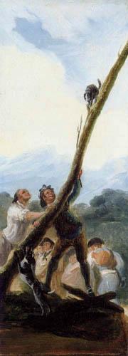 Francisco J. Goya y Lucientes - Die Katze, Skizze
