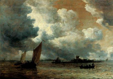 Jan van Goyen - Flußmündung