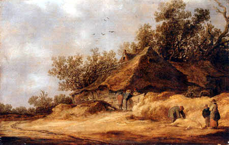 Jan van Goyen - Dünenlandschaft mit Gehöft