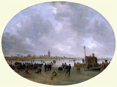 Jan van Goyen - Winter on a river