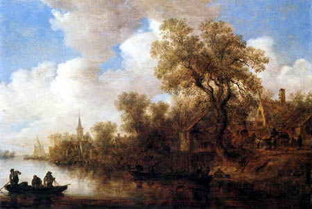Jan van Goyen - River landscape