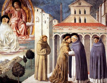 Benozzo Gozzoli - Die Vision des hl. Dominikus