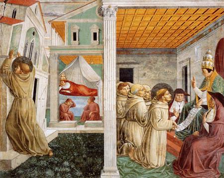 Benozzo Gozzoli - The dream of the Innocenzo III.