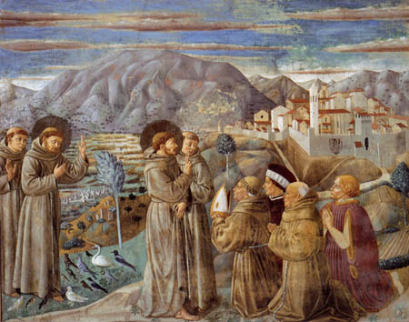 Benozzo Gozzoli - The bird sermon of St. Francis