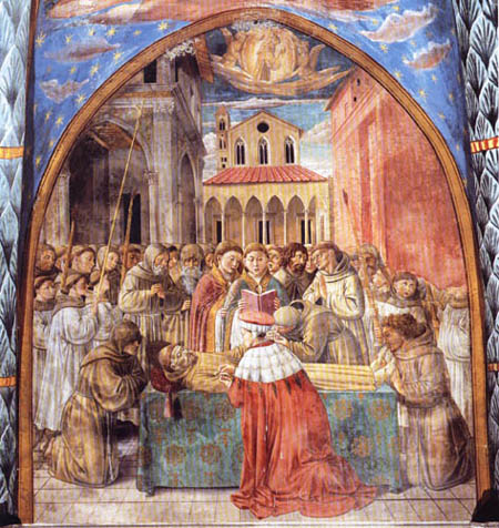 Benozzo Gozzoli - The death of Saint Francis