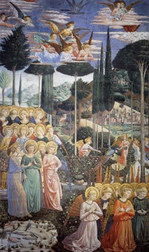 Benozzo Gozzoli - Angel choirs